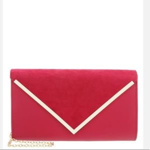 ALDO Pink and cold Clutch